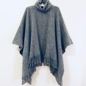 Sweaters - Fringe Turtleneck Poncho - Fall / Winter Sweater